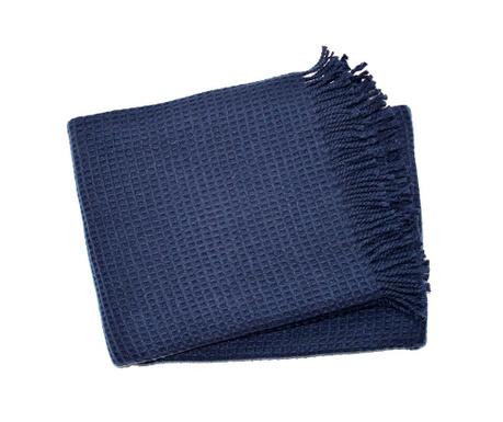 Priročna odeja Basics Waffle Navy Blue 140x180 cm