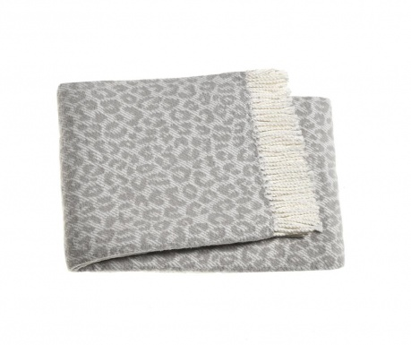 Koc Leopard Light Grey 140x180 cm