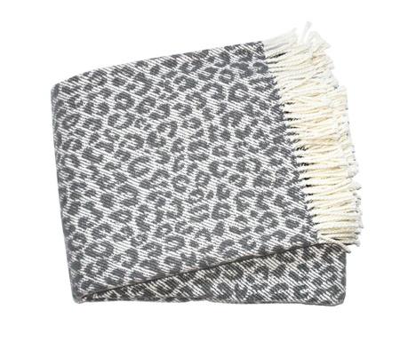 Priročna odeja Leopard Dark Grey 140x180 cm