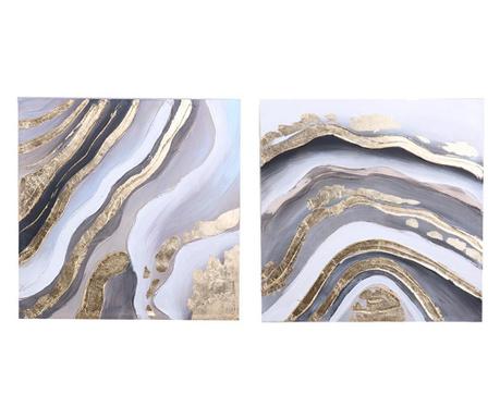 Zestaw 2 obrazów Loren 60x60 cm