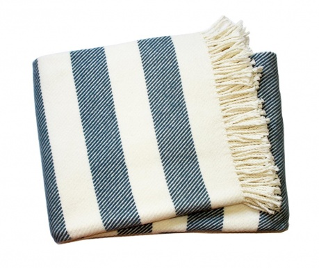 Koc Candy Stripe Night Blue 140x180 cm