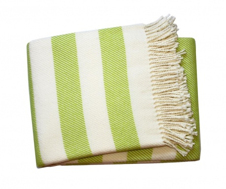 Pled Candy Stripe Lime Green 140x180 cm