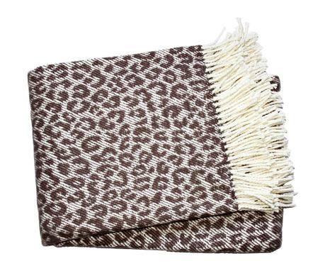 Priročna odeja Leopard Taupe 140x180 cm