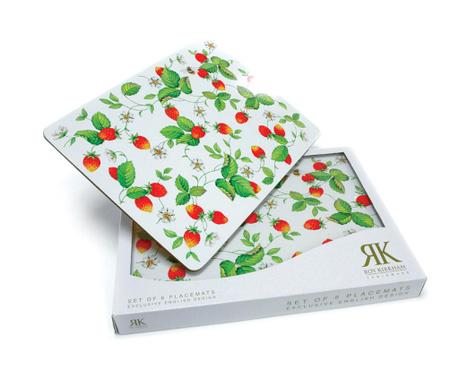 Set 6 pogrinjkov Strawberry 22x29.5