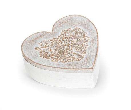 Flower Heart Ékszertartó doboz fedővel