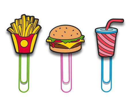 Sada 6 klipsů s přísavkou Fast Food