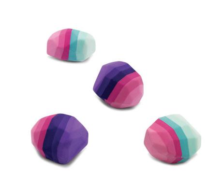 Sada 4 mazacích gum Rainbow