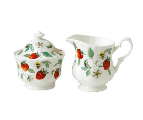 Set - vrček za mleko in sladkornica Alpine Strawberry
