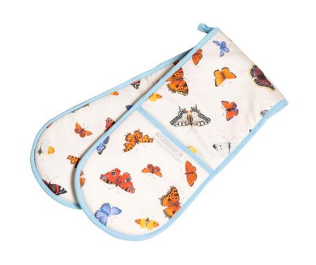 Manusa dubla de bucatarie Butterfly Garden