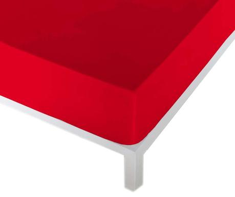 Cearsaf de pat cu elastic Eric Red
