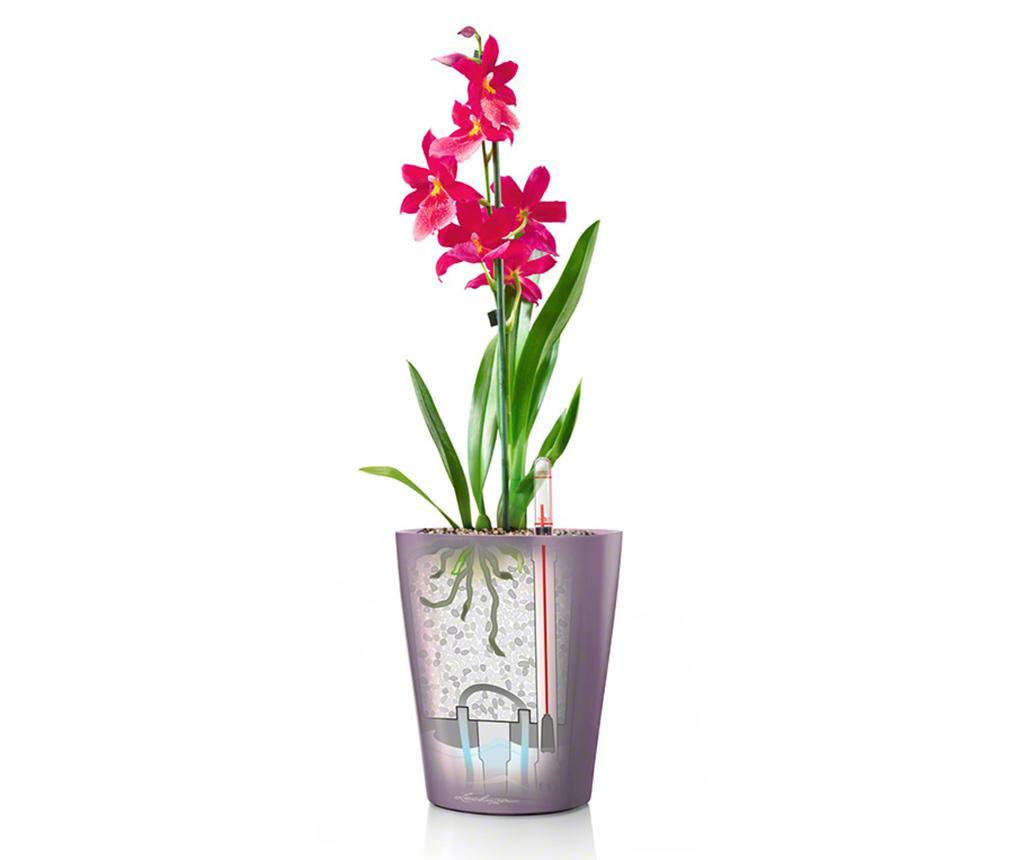 Set - cvetlični lonec z avto-namakalnim sistemom in držalo Deltini Table White S