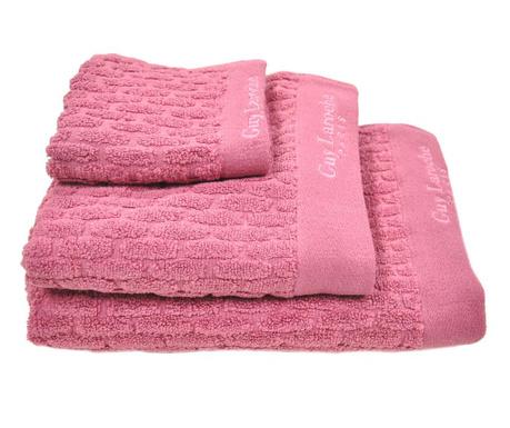Zestaw 3 ręczników kąpielowych Palazzo Raspberry