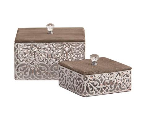 Set 2 cutii cu capac Lady