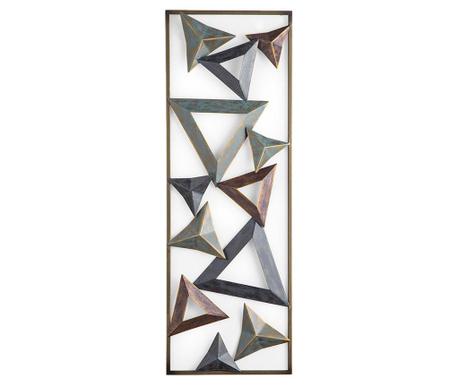 Colored Triangles 3D Fali dekoráció