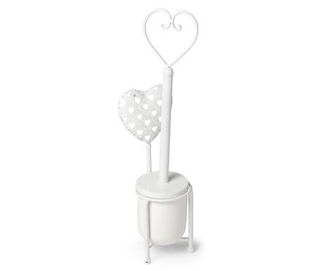 Четка за тоалетна чиния с поставка Cuore Heart