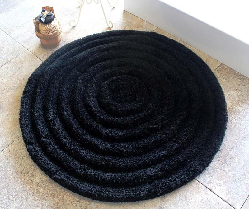 Covoras de baie Alessia Black 90 cm