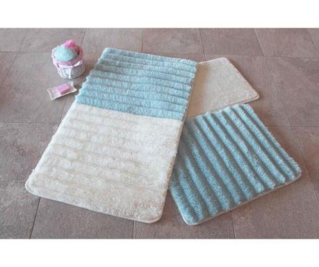 Set 3 kupaonska tepiha Soft Blue