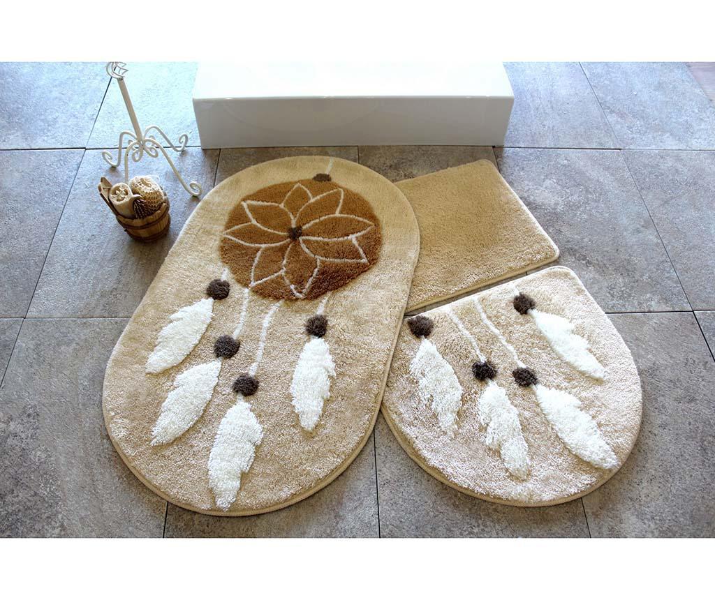 Ruya Brown 3 db Fürdőszobai szőnyeg