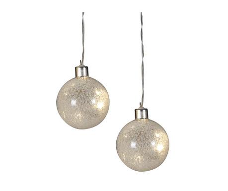 Set 2 svjetleće ukrasne kuglice Diamento