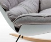 Houpací židle Vinyl Light Grey