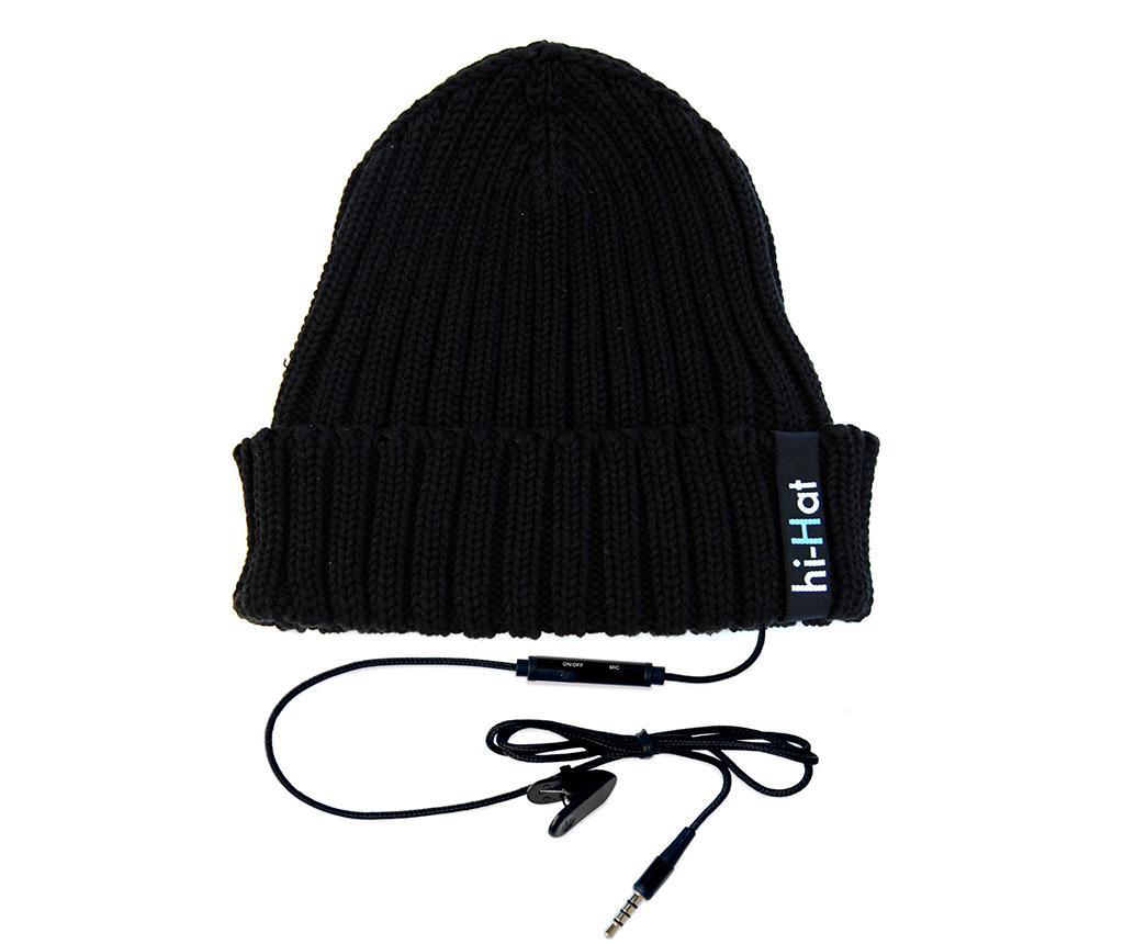 Čepice s integrovanými sluchátky hi-Hat Black