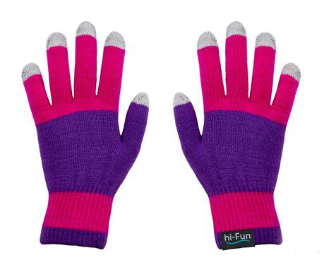 hi-Glove Knit Pink Érintőképernyős Női kesztyű