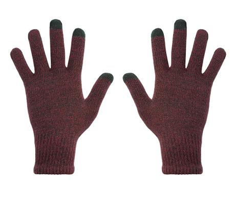 Manusi Touchscreen barbati hi-Glove Classic Gradient Dark Cherry