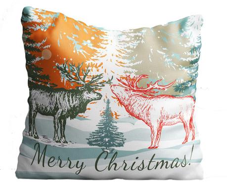 Perna decorativa Merry Christmas 43x43 cm