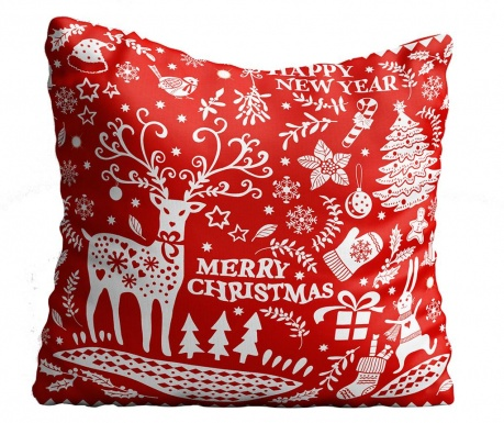 Perna decorativa Christmas Swirls 43x43 cm