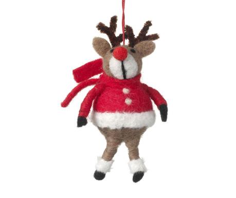 Decoratiune suspendabila Reindeer Red Coat