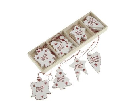 Set 12 visečih dekoracij Merry Christmas