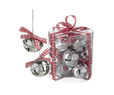 Set 12 ukrasnih kuglica Red Bell