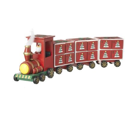 Decoratiune cu calendar advent Christmas Train
