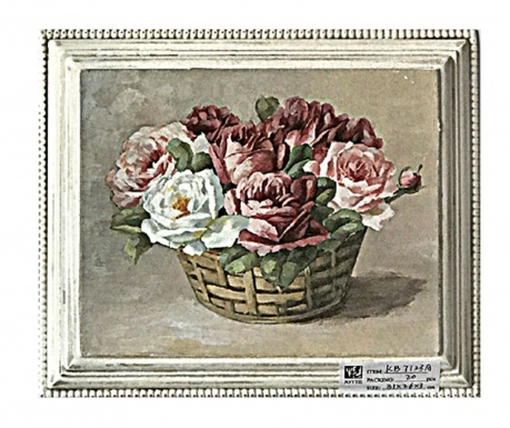 Tablou Basket with Flowers 26x31 cm