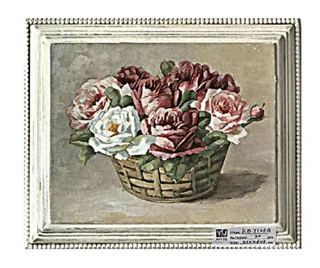Basket with Flowers Kép 26x31 cm