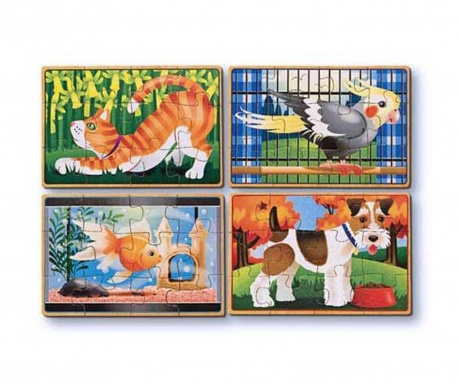 Set 4 slagalice od 12 dijelova House Pets