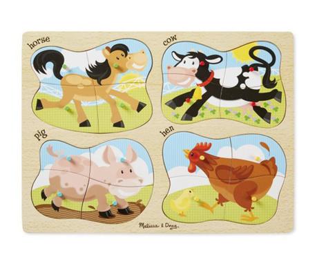 Joc tip puzzle 16 piese Farm
