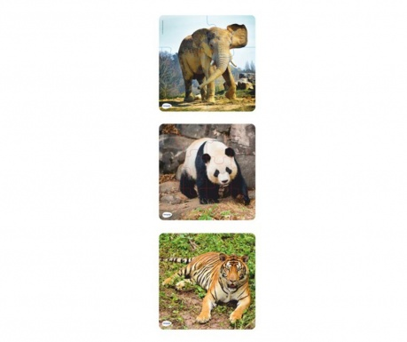 Set 3 puzzle-uri Wild Animals