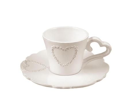Set šalica i tanjurić za čaj Pure Heart