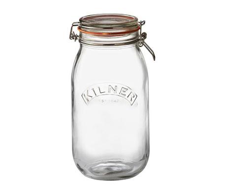 Clip Top Befőttes üveg   légmentesen záró  fedővel 2 L