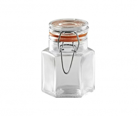 Spice Hexagonal Befőttesüveg hermetikus fedővel 90 ml