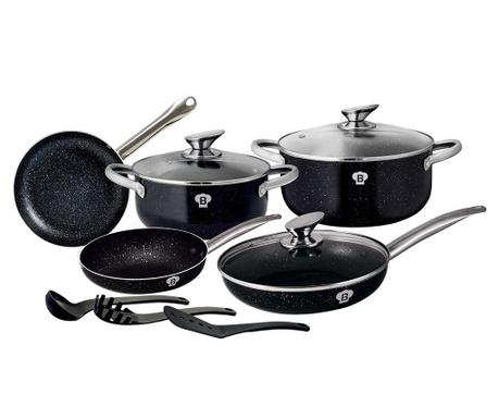 11-dijelni set posuda za kuhanje Le Chef Line Black