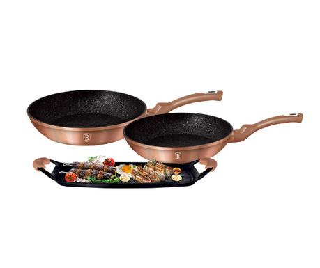 3-dijelni set posuda za kuhanje Royal Gold