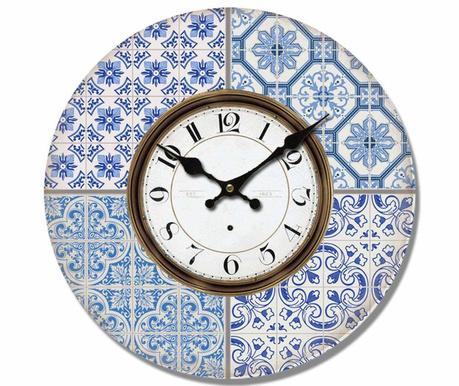 Ceas de perete Oriental Blue