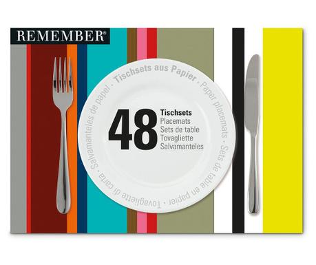 Stripes 48 db Tányéralátét 30x42 cm