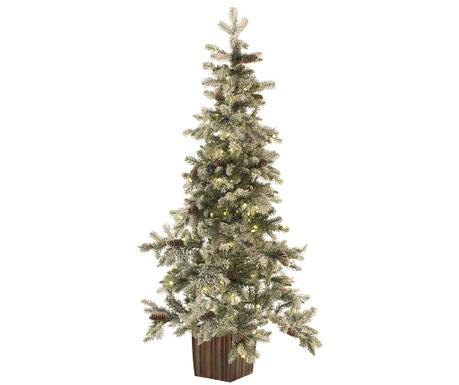 Изкуствена елха с LED в саксия Winter
