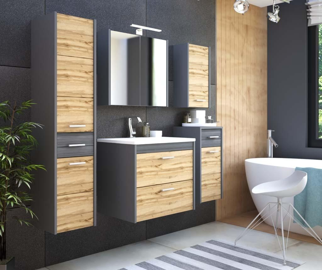 Omarica Ibiza Anthracite and Wood