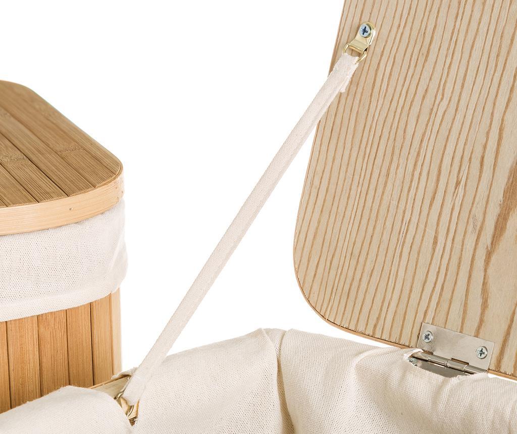 Set 2 cosuri cu capac pentru rufe Naturalis Rectangular