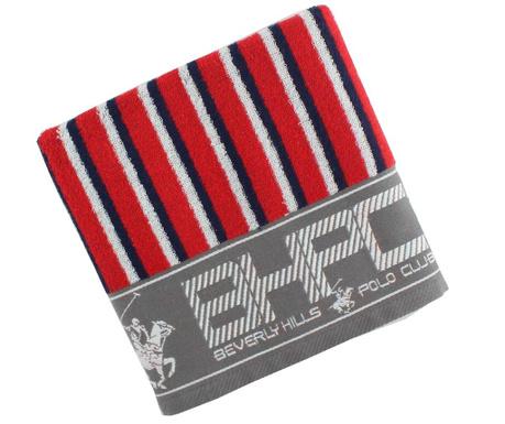 Ręcznik kąpielowy Stripes Red & Green 50x100 cm