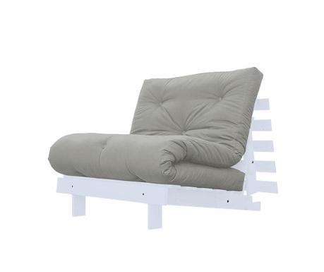 Sofa extensibila Roots White and Grey 90x200 cm